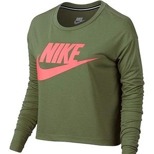 Nike essential long sleeve crop top